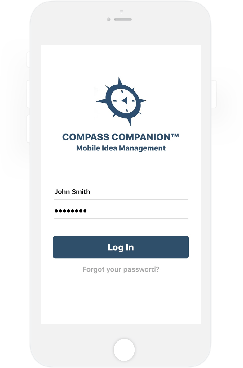Screenshot of Compass Companion login screen
