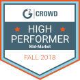 G2 Crowd High Performer Mid-Market Fall 2018 Award